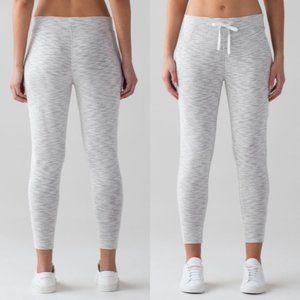 Lululemon More Than Modal Jogger Gray White Pants